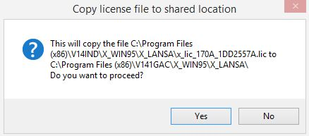 Copy license file to shared location