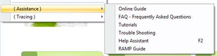 Example Assistance Menu