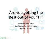 Webinar Getting The Best Out Of Your IT